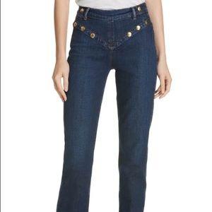 Frame Denim Le High Embellished Straight Jeans